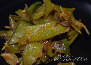 matar ke chilke ki sabzi - Pea shells stir fry